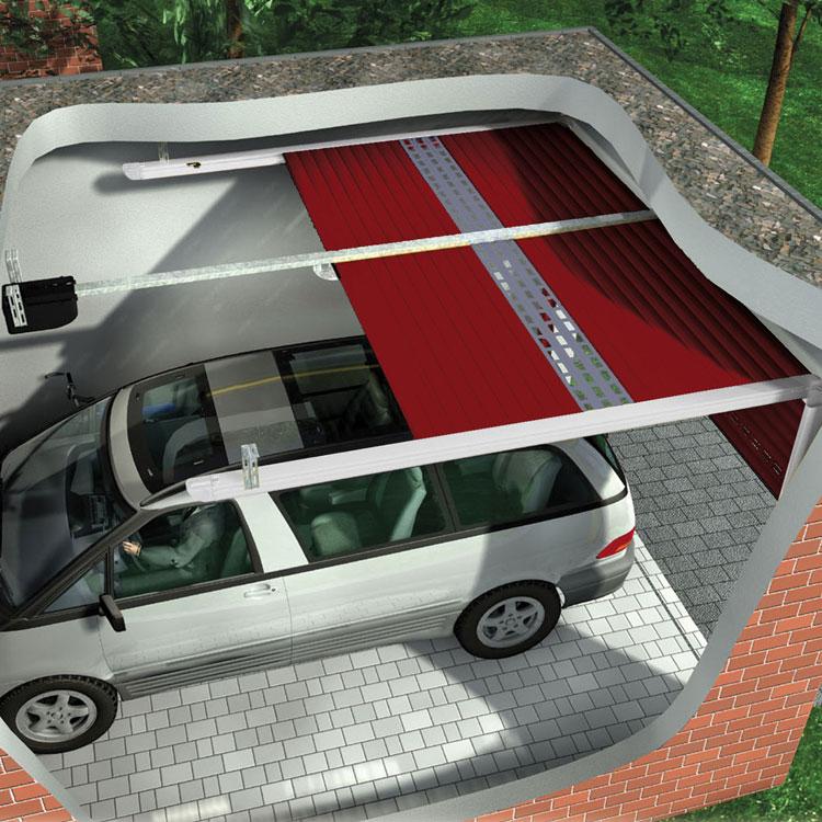 Pose porte de garage DETOLUX à refoulement en plafond gironde